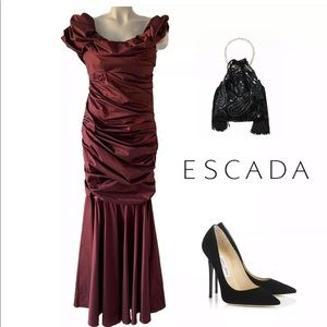 Escada Dresses - ESCADA GERDRUD PORT RUCHED OFF SHOULDER DRESS